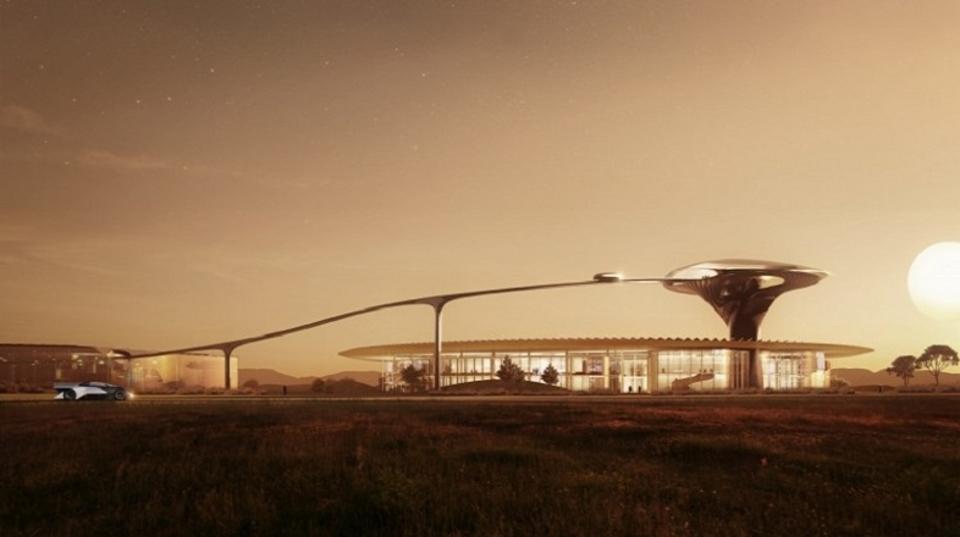 新興EVメーカーFaraday futureの新社屋のデザインがまるでSFの世界