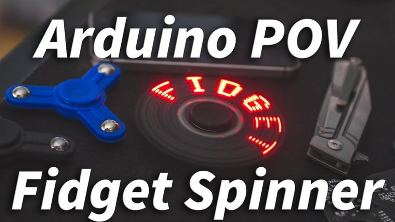 これが最終型? 回転で文字が浮き出る、アルドゥイーノ搭載3Dプリント自作ハンドスピナー