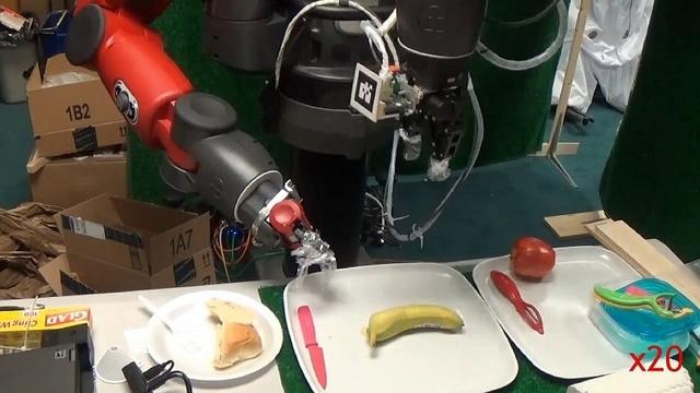 「バナナの皮むきロボ」を実現、ロボット用皮膚「FingerVision」