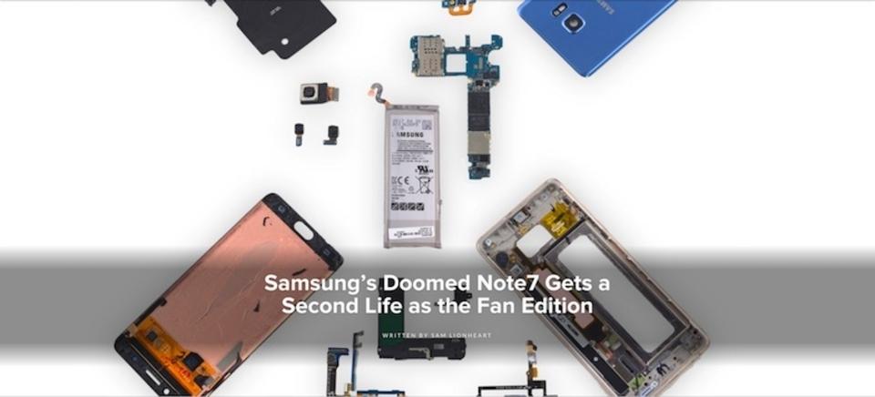悪夢は去ったか。「Galaxy Note 7 Fan Edition」を分解してみると…?