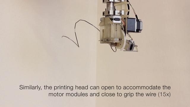 タスクに応じてデザインを変えられる、針金+モーターの単純構造ロボ