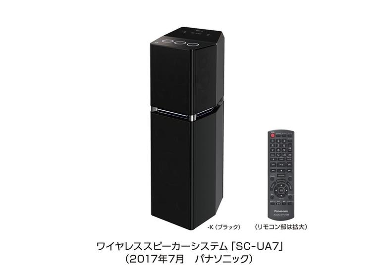 高音質が身体を包みこむ万能ワイヤレススピーカー「SC-UA7」