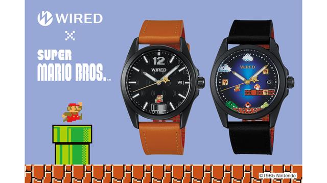 WIRED×『スーパーマリオブラザーズ』なコラボ腕時計が登場。裏面やケースまで凝ってる!
