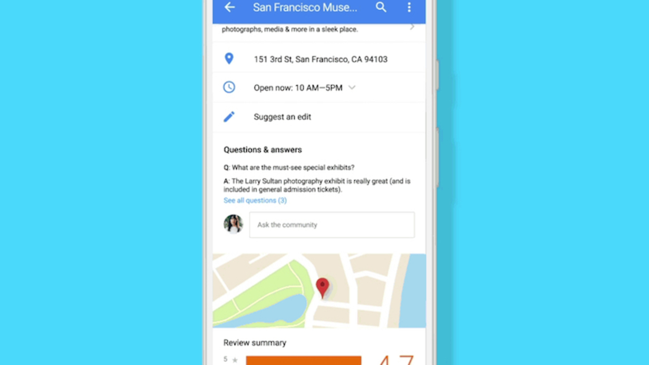 Android版Googleマップに施設のQ&A機能追加。ユーザーの声が施設オーナーに直接届く!