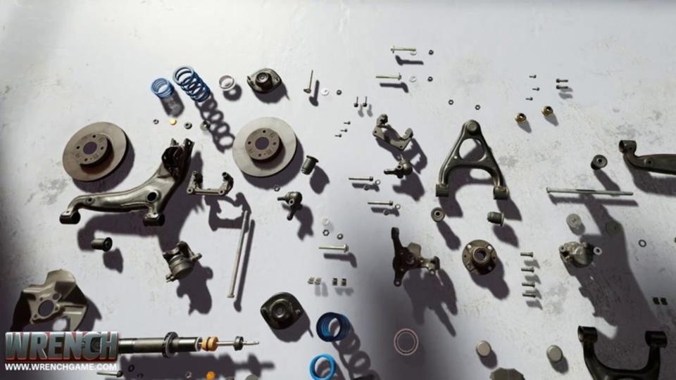 バラバラのネジやパーツで車を組み立てるVRパズル『Wrench』