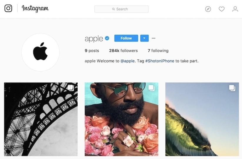 フォローしとく? Apple公式Instagramアカウントが公開