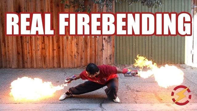 波動拳! ハッカー自作、 腕の動きに合わせて炎がリアルに放たれる火炎放射器グローブ