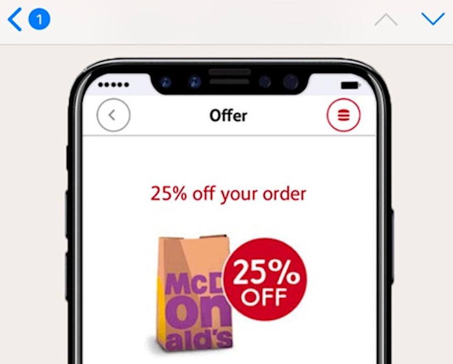 海外マクドナルド、「iPhone 8」っぽい画像をクーポンで配信してしまう