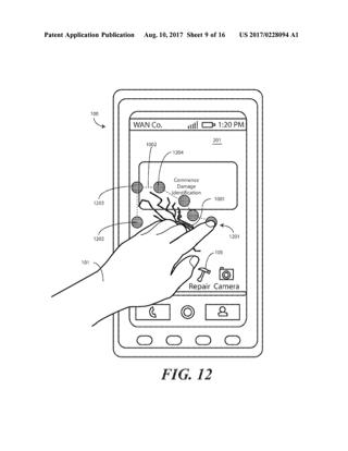 2 こことここ、直してね。割れたスクリーンが熱で直る技術の特許をモトローラが申請