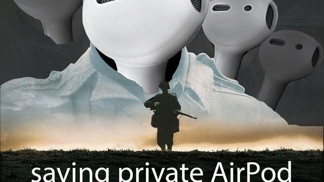 届かないところに落ちたAirPodを救出する感動のムービー「プライベート・エアポッド」に涙(動画あり)