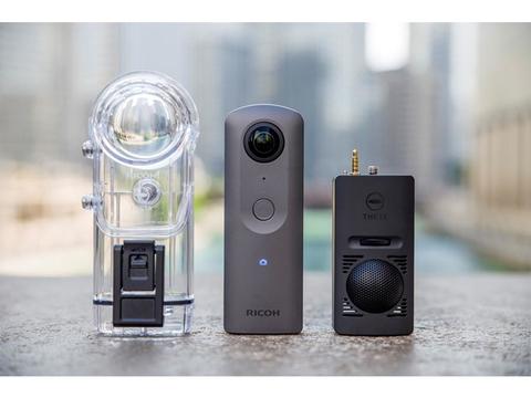RICOHからシリーズ初の4K対応360度カメラ「THETA V」が登場