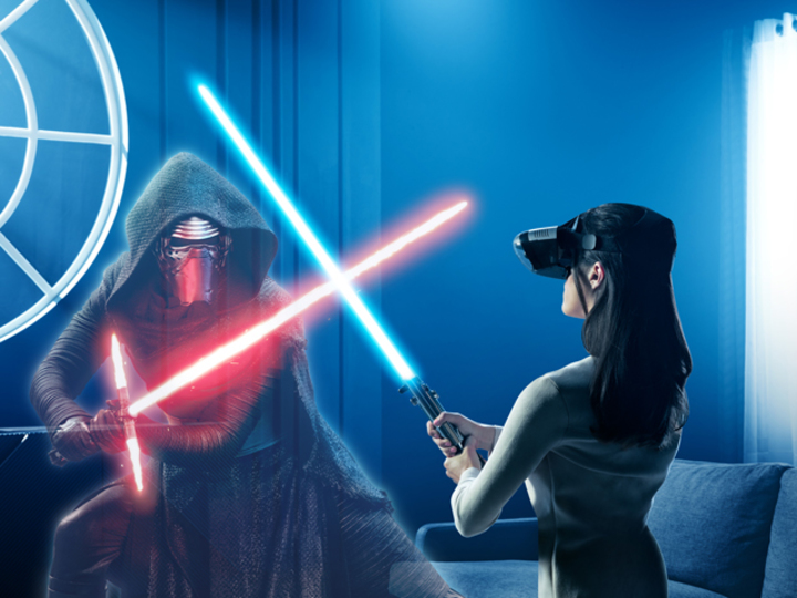 フォースよ、ARとともに。ジェダイになって目の前の敵と戦うHMD&ARゲームをLenovoが発表