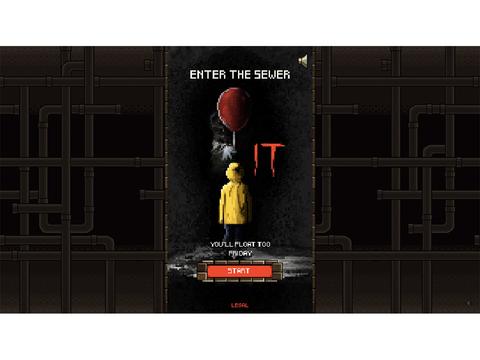 無料で遊べるホラー映画『IT』の8ビットゲーム『It: Enter the Sewer』