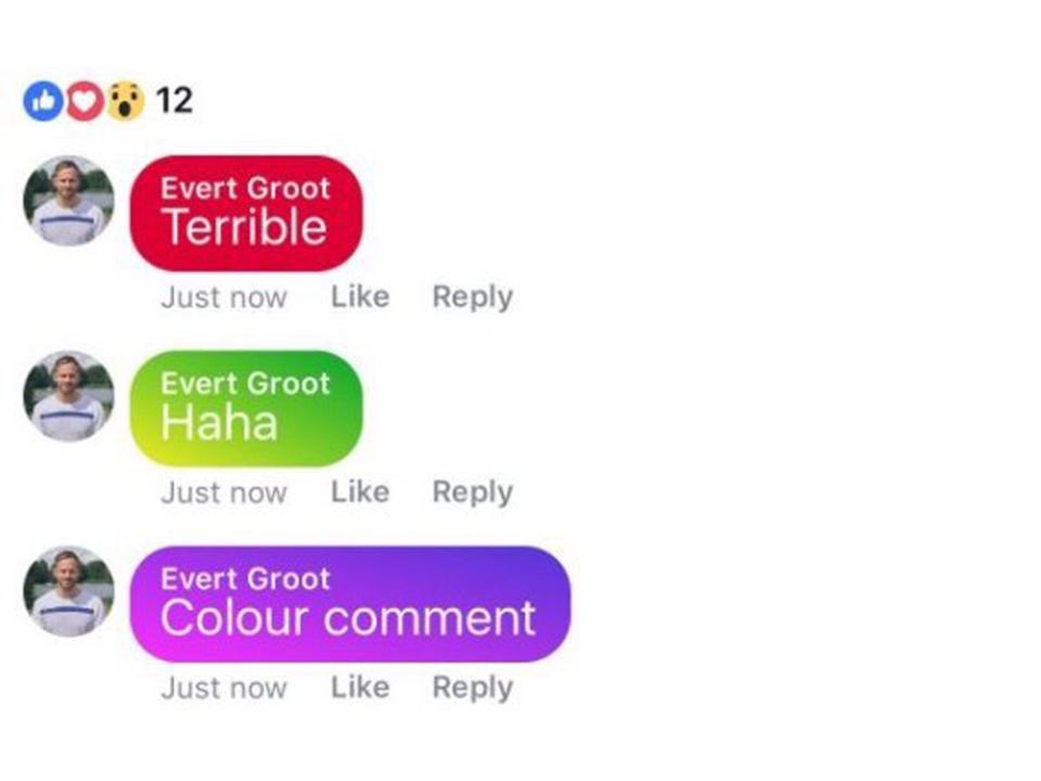 Facebookはカラー付きコメントを準備している。ただし…