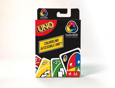 3色をシンボルで表すよ。UNOが色覚異常を持つプレイヤーでも遊べるカードセットを販売
