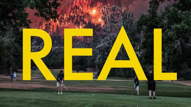 山火事の中でゴルフしているバイラル写真は本物だった