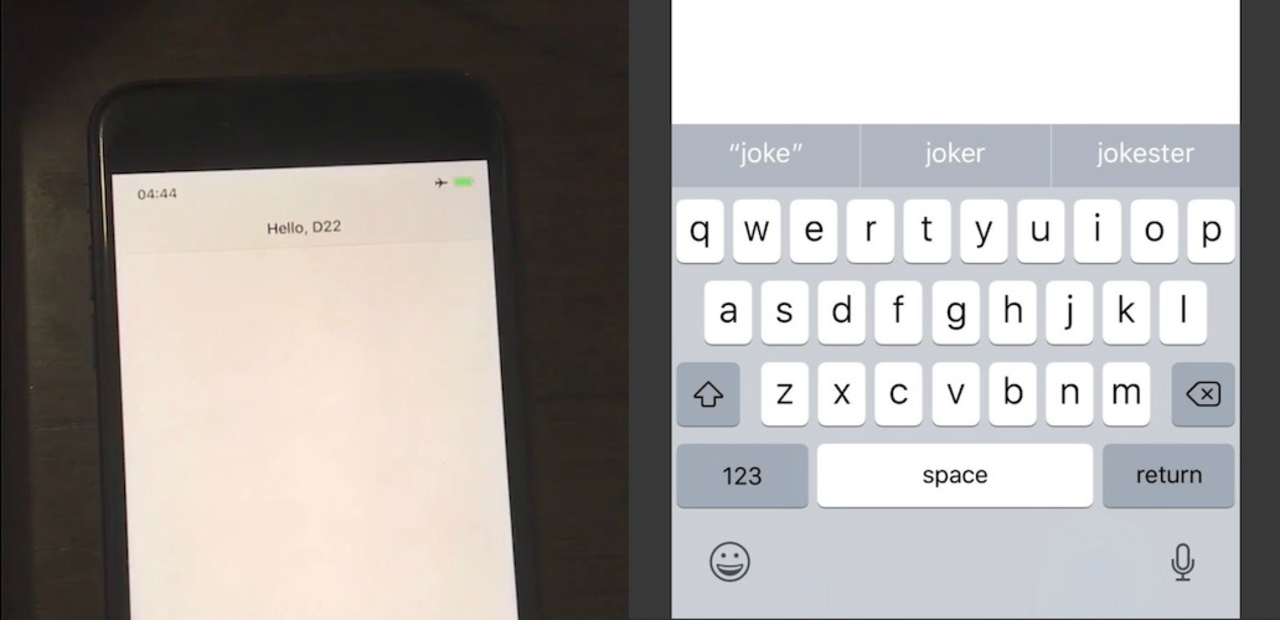 iPhone Xのステータスバーとキーボードの新デザイン。余白がすごい