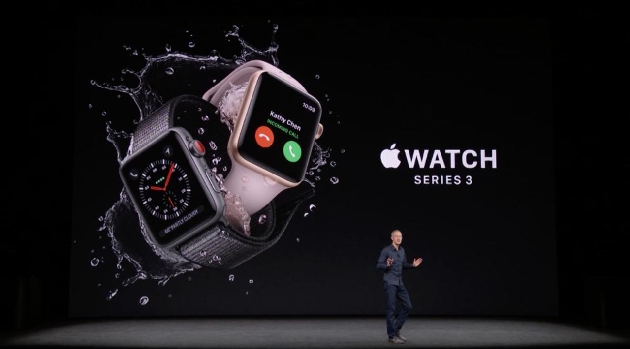 Apple Watch Series 3発表。セルラー対応ですよ