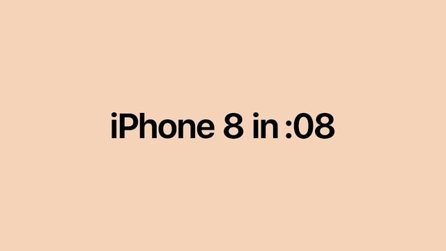 見せる気あるの...?「iPhone 8/8 Plus」の紹介を8秒でまとめた動画は瞬きせずしても見れず!