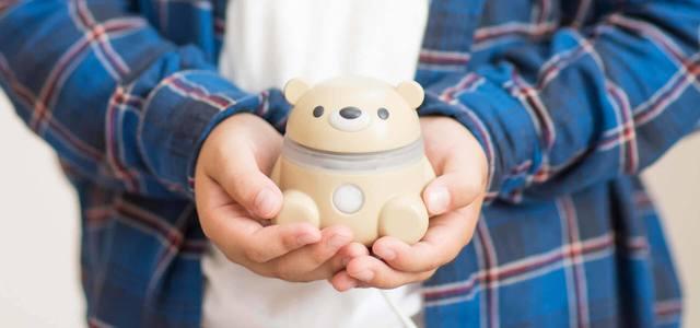こどものコミュニケーションを見守るかわいいクマのAIロボ「Hamic Bear」