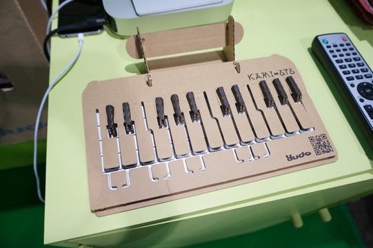 【TGS2017】ダンボールで手作りするキーボードの上のキーボード「KAMI-OTO」