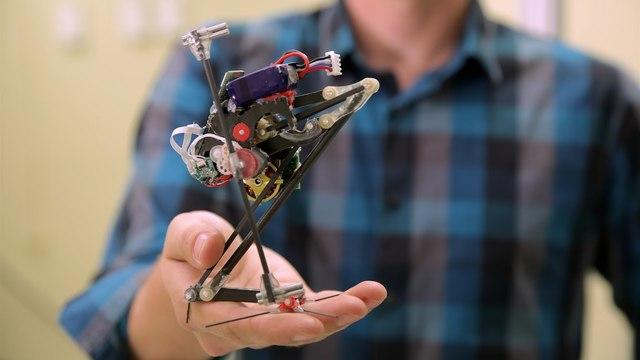 一本脚でピョンピョン跳ねるミニ・ロボット「Salto-1P」