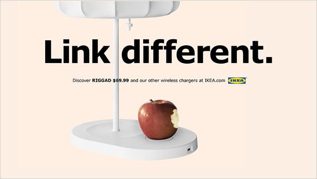 IKEAのiPhone 8をバリバリ意識したワイヤレス充電の広告