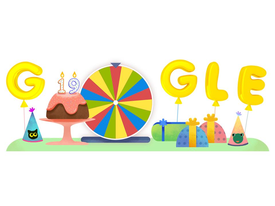 今日はGoogleの19回目のハッピーバースデー!