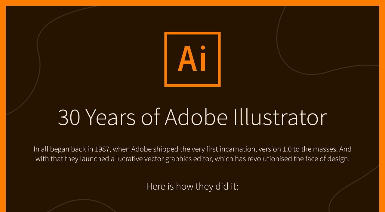 デザイナー必見! 「Adobe Illustrator」30年の軌跡を追うインフォグラフィック