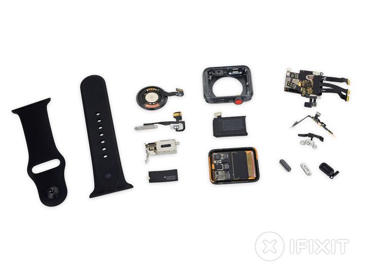 「Apple Watch Series 3(GPS + Cellular)モデル」分解レポ。前モデルから意外と変わっていない…?