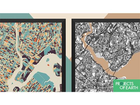 全世界の地図をアートに変えるプロジェクト「A Projects of Earth」