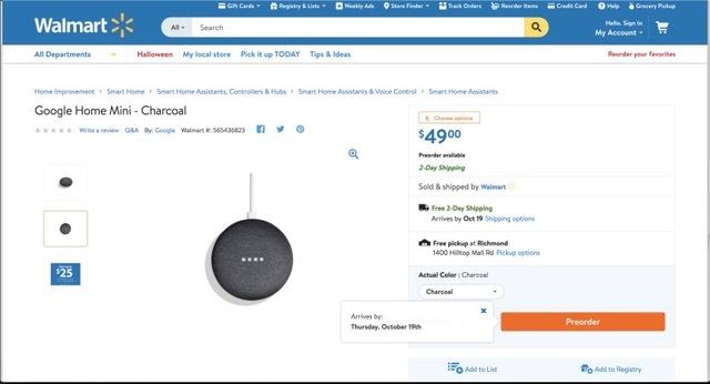 Walmart、間違ってGoogleのイベント1日前に新製品を公開してしまう