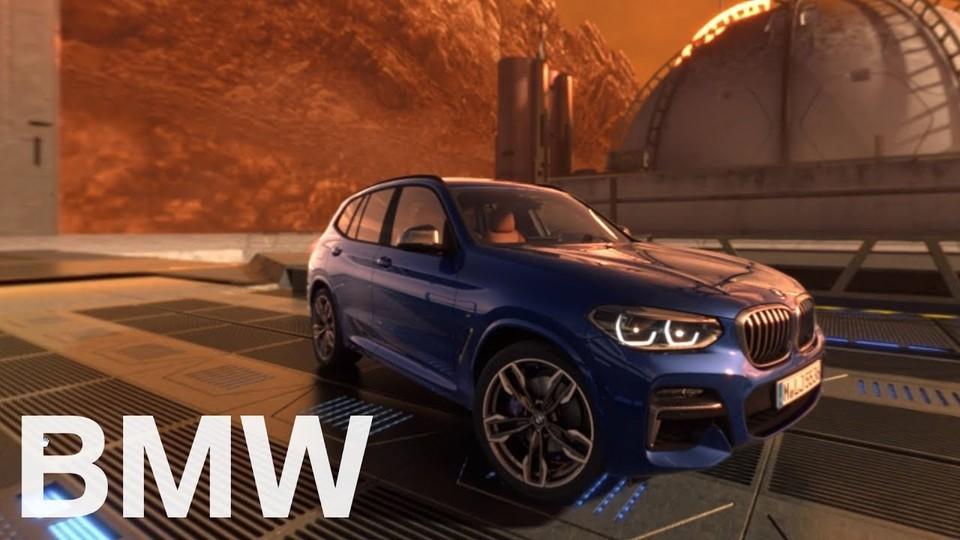 新技術も垣間見られる、BMW X3で火星を運転する360度動画