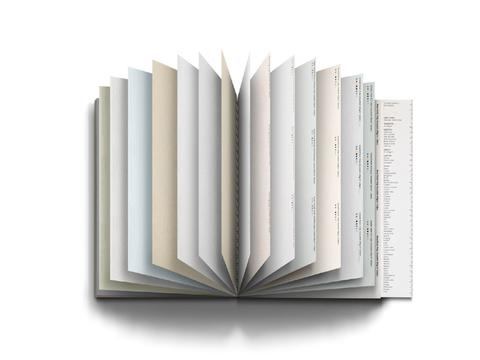 見本紙好き必携! 72種類の紙が1冊に詰まった詰まった夢のノートが登場