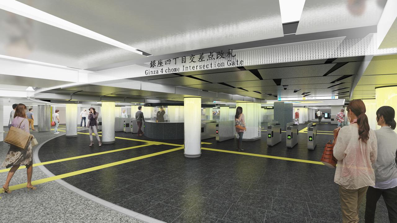 テーマは「銀座のまちの地下1階」。銀座駅のリニューアル・デザインが決定!