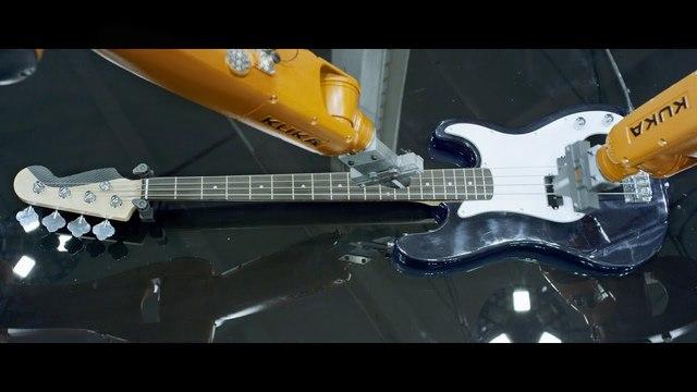 産業用ロボットに楽器を演奏させ(ているように見え)るミュージックビデオがまさに重工