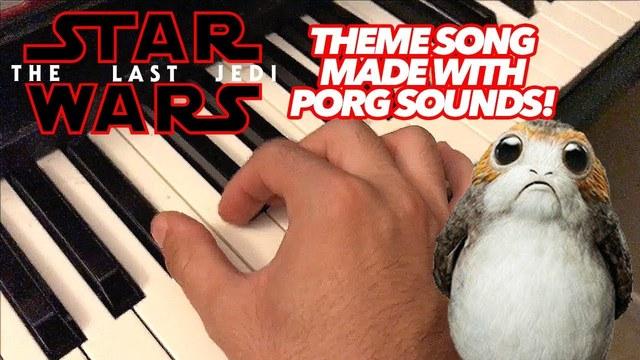 ポーグ、可愛いよポーグ。『スター・ウォーズ エピソード8/最後のジェダイ』超弩級アイドル、ポーグが歌うSWのテーマ