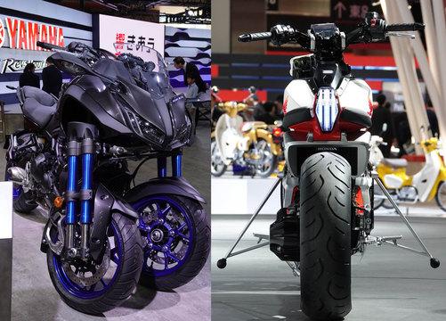 倒れないバイクのカタチ。LMWな多脚型かPower of Dreamか[東京モーターショー2017]
