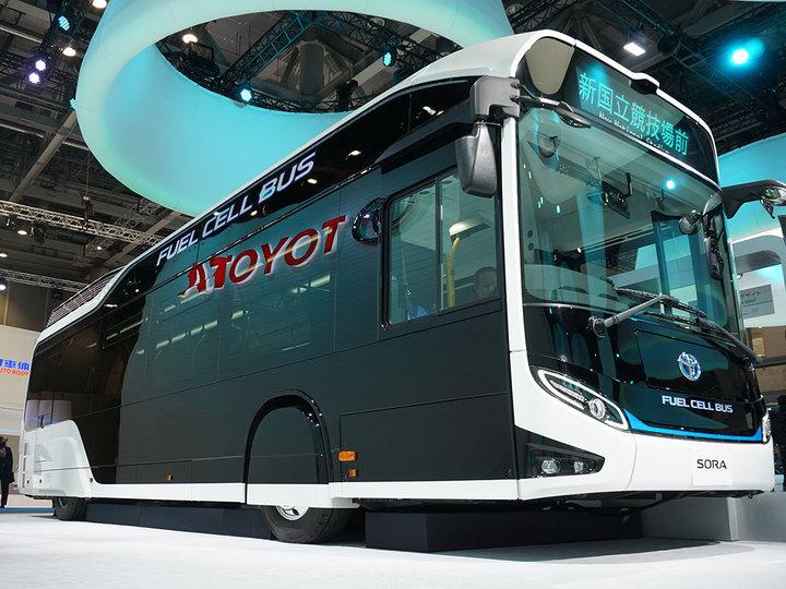 来年には東京を走ります。トヨタの最新バス「Sora」 #TMS2017