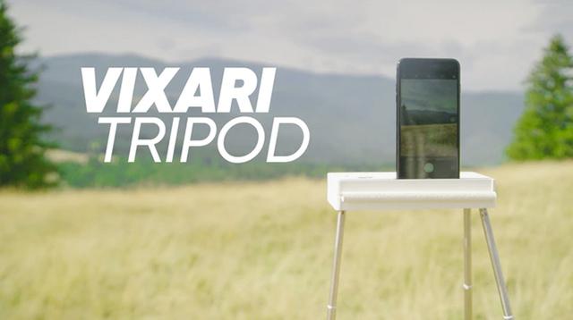 平たい台座って正解かも。スマホ&一眼レフ&Go Proに対応した超ポータブル三脚「Vixari Tripod」