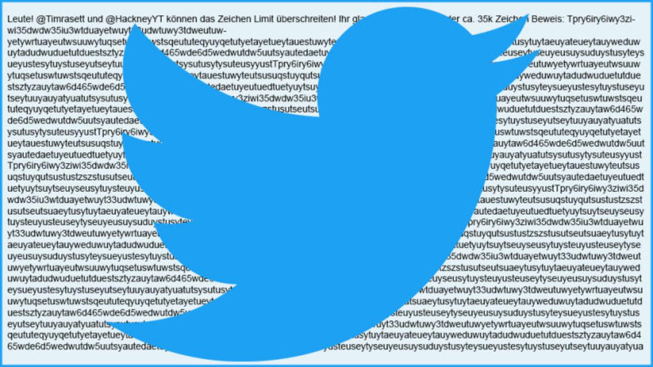 とあるTwitterユーザーが抜け穴を使って3万5000文字のツイートを投稿