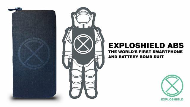 世界初の耐爆スマホポーチ「EXPLOSHIELD ABS」がKickstarterにて爆誕!
