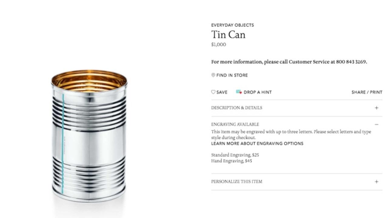 iPhone Xが高いって? ティファニーの「缶」は1,000ドルですってよ