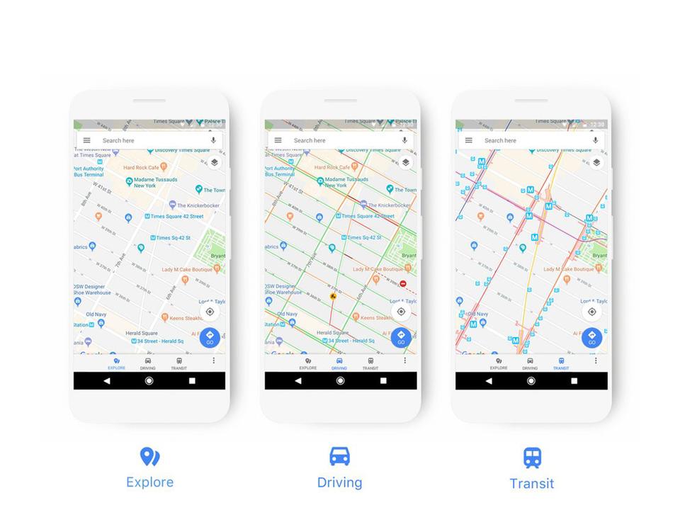 マップも絶えず進化する。Googleマップのデザインが変わります