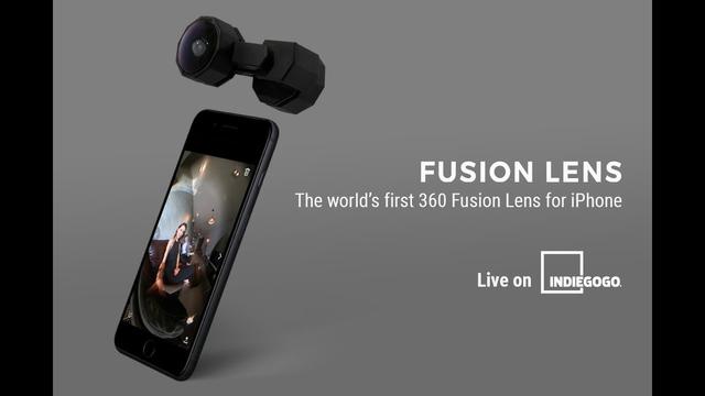 なんと44ドルから! アクセサリー感覚でiPhoneを360度カメラにするレンズが資金調達中