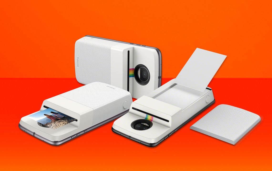 Moto ZをポラロイドカメラにできるMoto Modsが登場。カメラロールやInstagramからもプリントOK