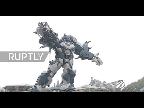 巨大ロボットにVRライドも。中国で建設中の仮想現実SFテーマパークの様子