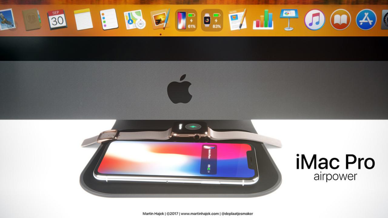 iMac Proのあそこに、AirPowerが内蔵されたらいいと思いません?