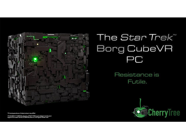 4K画質・VRにも対応、ドラマ『新スタートレック』の宇宙艦「ボーグ・キューブ」型ゲーミングPC