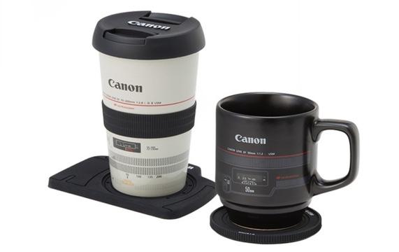 レンズにコーヒーを入れまして…。キヤノンから公式ファングッズ爆誕